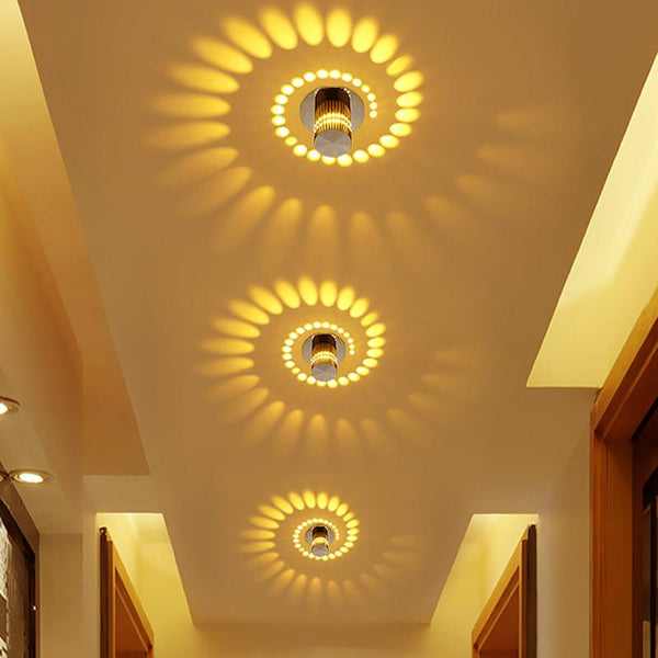 Modern Swirl Led Ceiling Light Warmly