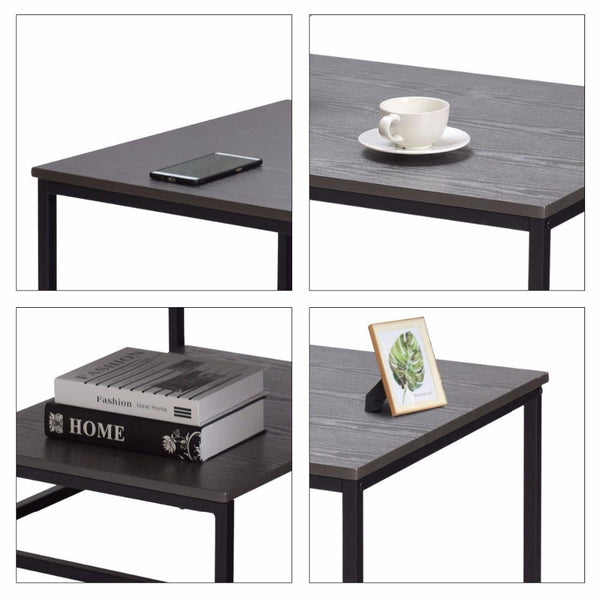 Cullen - Modern Nordic Living Room Coffee Table with Shelf