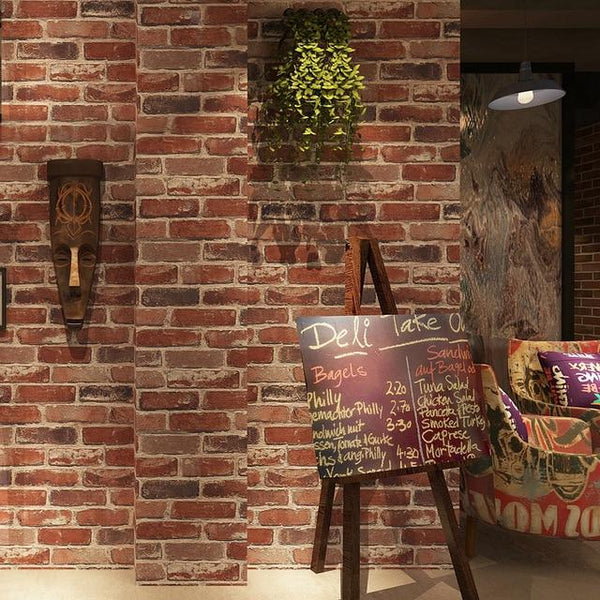 Carter Rustic Vintage 3d Faux Brick Wallpaper Roll