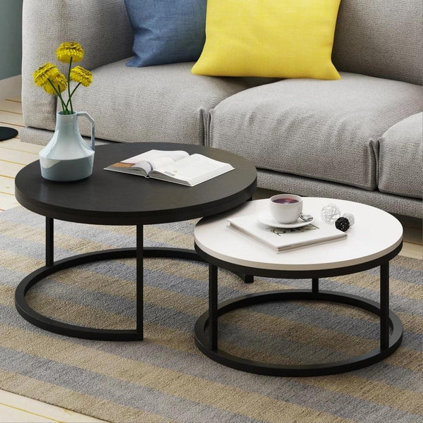 Benson - Modern Round Coffee Table Set