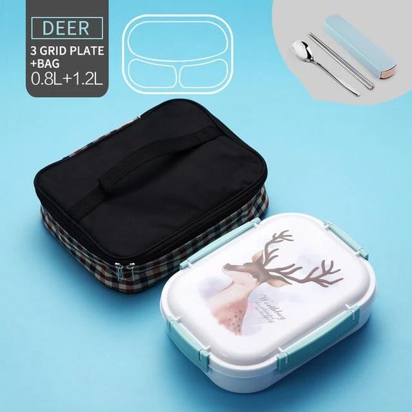 Stainless Steel Multi-Compartment Leak Proof Lunch Box
