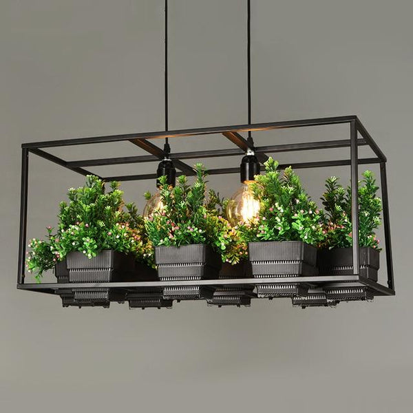Iron Planter Chandelier