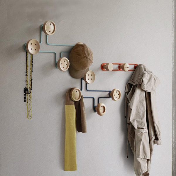 Aro - Modern Nordic Button Coat Rack