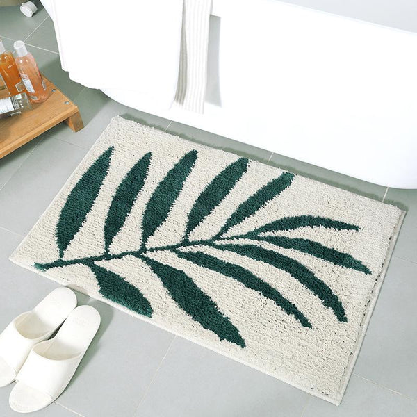 Delaney - Small Leaf Fluffy Rug