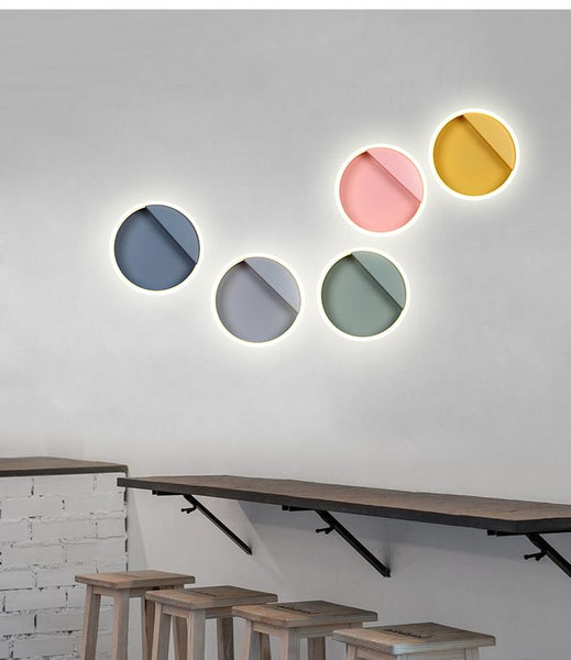 Macarone - Modern Nordic Round LED Wall Lamp