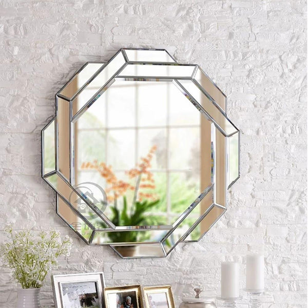 Cornelia - Abstract Hexagon Mirror