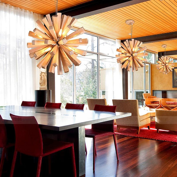 Burst - Wooden Pendant Light