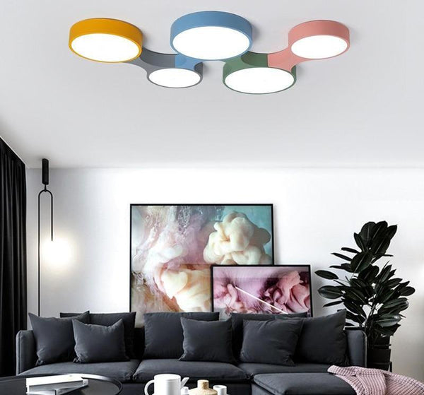 Cogs - Modern Nordic Colorful Ceiling Light