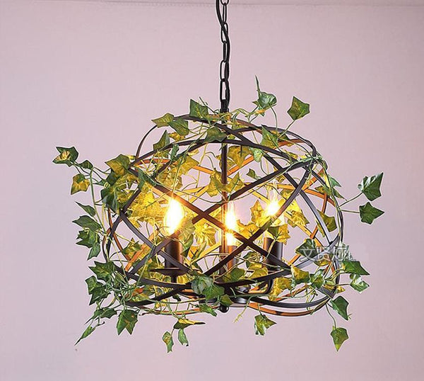 Emory - Vintage Industrial Bird Cage Hanging Lamp