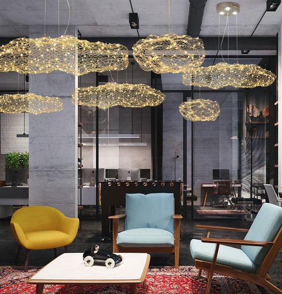 Amica - Modern Art Deco Star Light Dotted Cloud Lamps