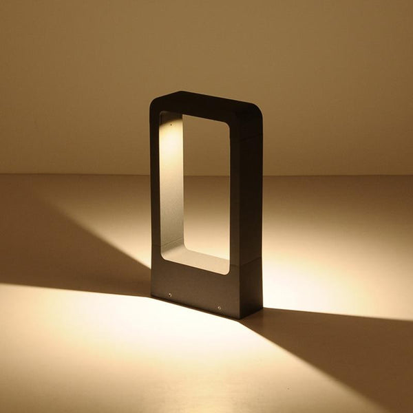 Breckyn - Modern Black Frame Garden Light