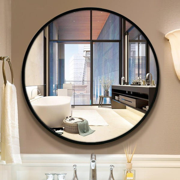 Tamari - Round Floating Wall Mirror