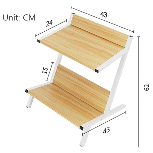 Ida - Double Layer Wooden Coffee Table Organizer