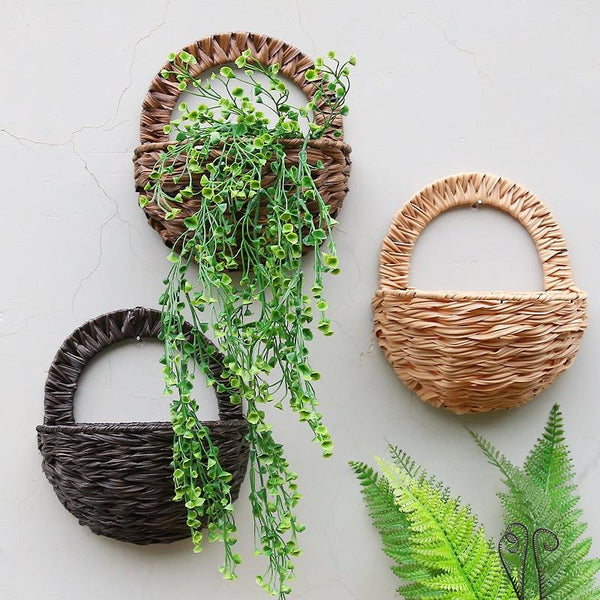 Allen - Rattan Wicker Wall Mounted Planter