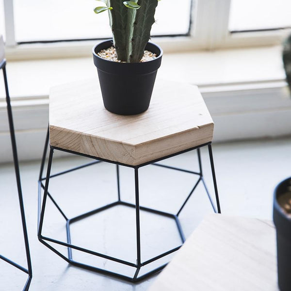 Nico - Modern Nordic Iron Frame Side Table