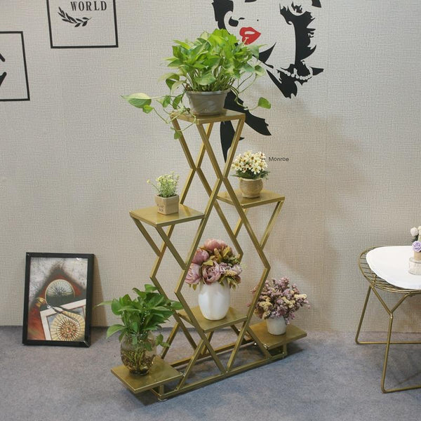 Fia - Modern Nordic Multi Shelf Planter Display
