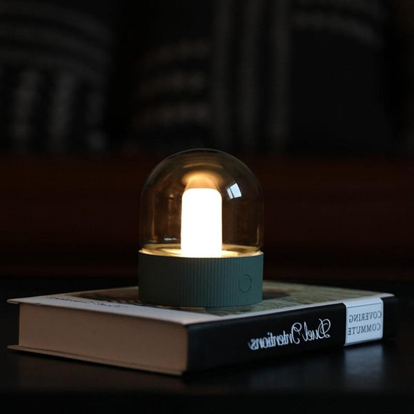 Asher - Glass Dome Desk Lamp