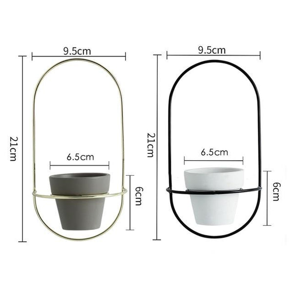 Esma - Rounded Wall Planter