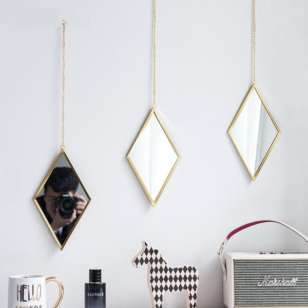 Diamante - Diamond Shape Hanging Mirror