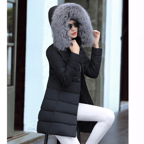Thick Cotton Winter Slim Coat - Fionana