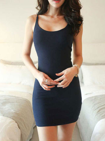 Sleeveless Tight Tank Dress - Fionana