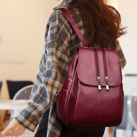 Anti-theft Women Vintage Backpack - Fionana
