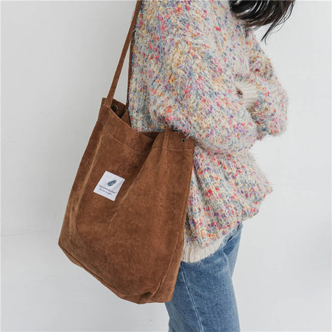 High Capacity Women Corduroy Tote - Fionana
