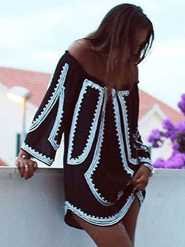 Boho Long Sleeve Dress - Fionana