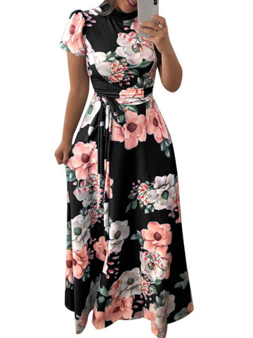 Flower Maxi Dress - Fionana