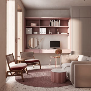 Stylish Homes With A Penchant For Pink & Monochrome
