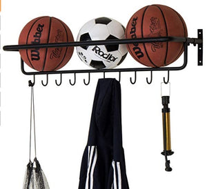 10 hook ball rack