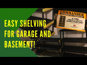 Easy Shelving for Basement or Garage - Commander 5 Tier Shelving Unit Very simple to put together and level