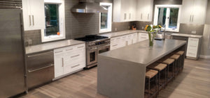 Having trouble deciding on what kind of countertop to place in your new kitchen? Concrete is a very popular and durable option that offers a lot of versatility in terms of customization