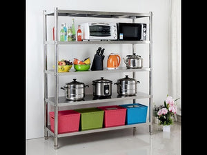 Stainless steel shelf is a great solution to keep and organize your gardening tools, flowerpots, pots and pans or any other items ✓ 12 MONTH WARRANTY ✓ 24 ...