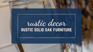 Do you ever find yourself longing for rustic style decor without being able to put your finger on exactly what you're looking for? If you are thinking of items that are comfortable, laid back, and casual, you are on the right track
