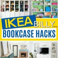 18 Creative IKEA BILLY Bookcase Hack Ideas