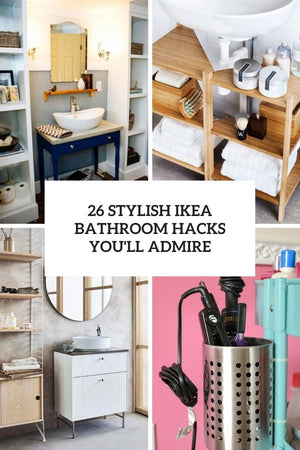 Love IKEA? Love hacking it from time to time to fit your space? Then you should go no further as we've gathered the coolest IKEA hacks for bathrooms! Here you'll find everything – IKEA items repurposed into bathroom items, IKEA bathroom pieces...
