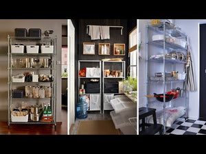 10 IKEA SHELVING UNIT IDEAS FOR SMALL PANTRY #pantryshelves #shelvingideas #smallpantry *Press CC to turn ON/OFF subtitles