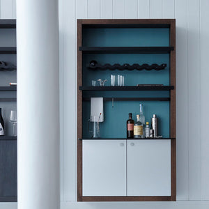VDF products fair: kitchen and storage systems brand Henrybuilt has created a flexible shelving unit that allows users to display homeware and personal trinkets in a variety of arrangements
