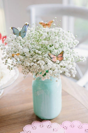 Big Space Mason Jar With Baby's Breath