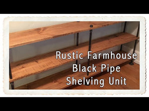 In this video, my husband and I share how we made a pipe shelving unit for our dining room