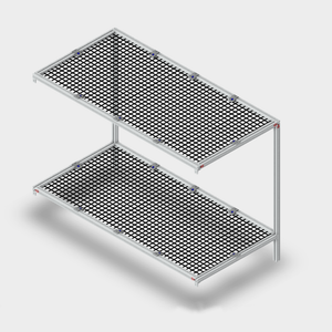 2 Legged Double Shelving Unit