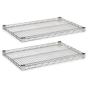 Alera® Industrial Wire Shelving Extra Wire Shelves, 24w x 18d, Silver, 2 Shelves/Carton