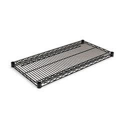 Alera® Industrial Wire Shelving Extra Wire Shelves, 36w x 18d, Black, 2 Shelves/Carton