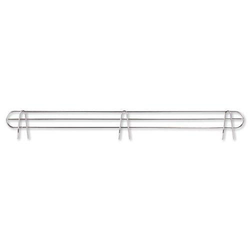 Alera® Wire Shelving Back Support, 36″ Wide, Silver, 2 Supports/Pack