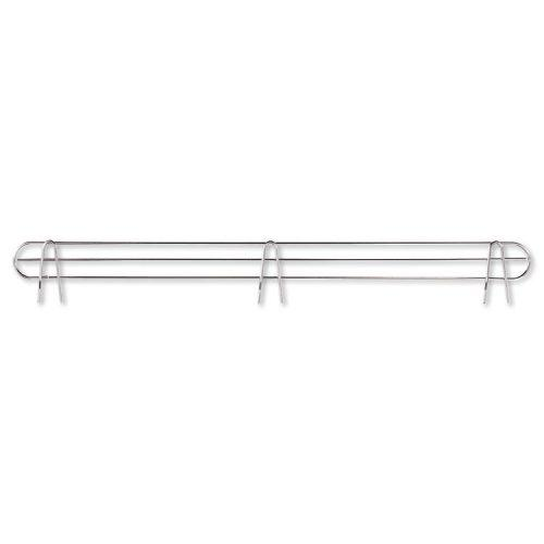 Alera® Wire Shelving Back Support, 48″ Wide, Silver, 2 Supports/Pack