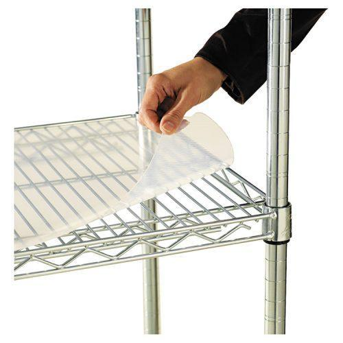 Alera® Shelf Liners For Wire Shelving, Clear Plastic, 36w x 24d, 4/Pack