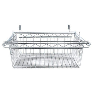 Alera® Sliding Wire Basket For Wire Shelving, 18w x 24d x 8h, Silver