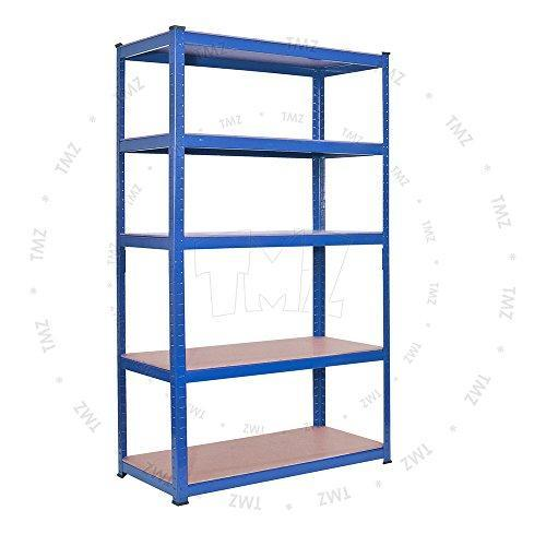(1800 x 900 x 450)mm heavy duty boltless metal steel shelving shelves storage unit Industrial BLUE