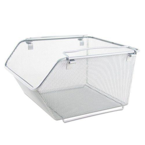 Alera® Wire Mesh Stacking Shelving Bins, 12 x 15 1/4 x 8 5/8, Silver, 2/Set